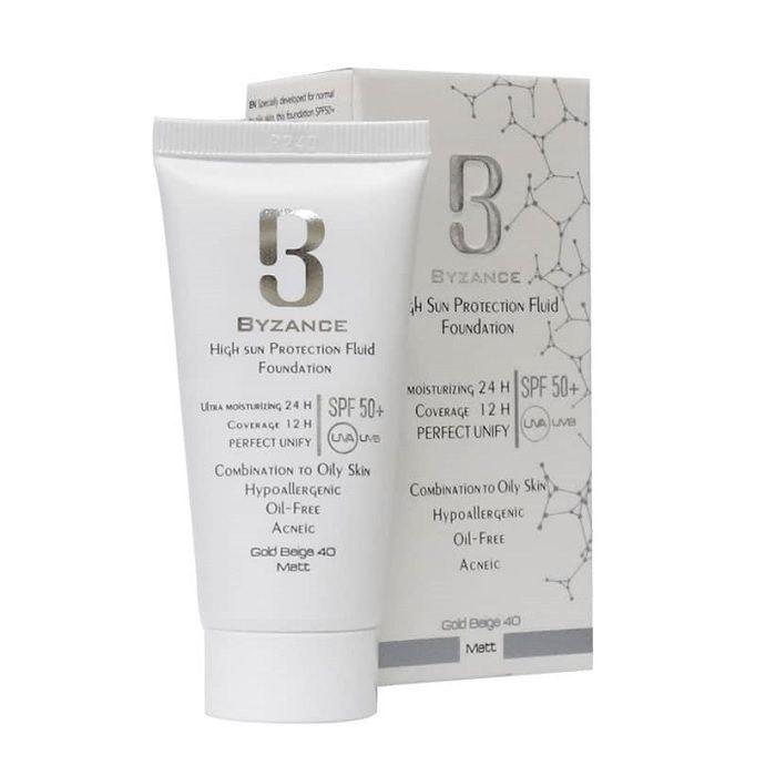 تصویر فلویید ضد آفتاب پوست مختلط تا چرب بیزانس رز بژ شماره 30 Byzance Sunscreen Fluid Combination to Oily Skin Rose Beige30