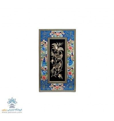 تصویر تابلو قلمزنی اصفهان با قاب زیبای نگارگری