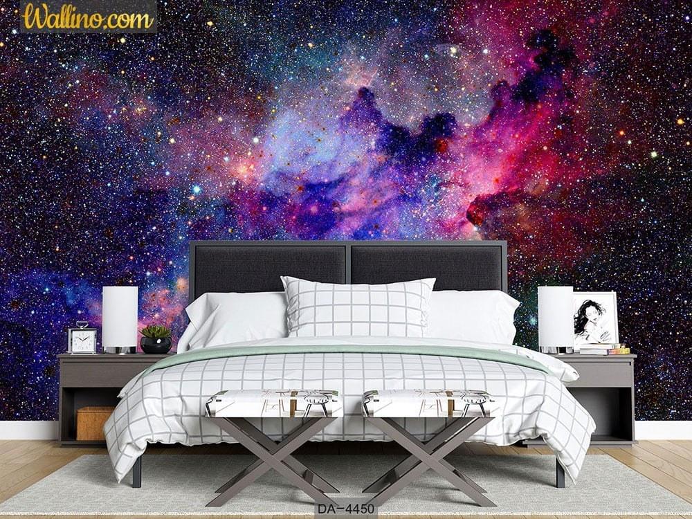 image کاغذ دیواری کهکشانی اتاق خواب DA-4450