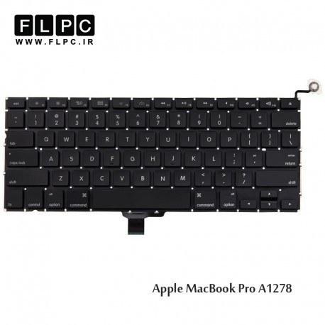 تصویر کیبورد لپ تاپ اپل Apple Macbook Pro A1278 Laptop Keyboard مشکی-اینتر کوچک به همراه کلید پاور