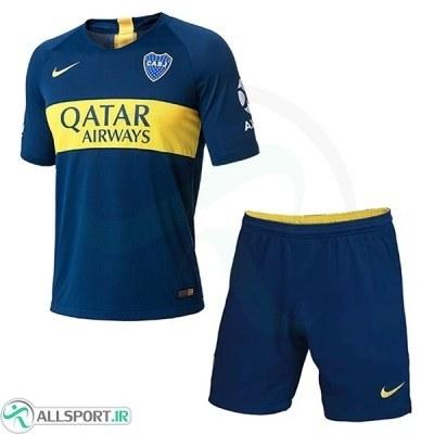 پیراهن شورت اول بوکاجونیورز Boca Junuors 2018-19 Home Soccer Jersey Kit Shirt+Short
