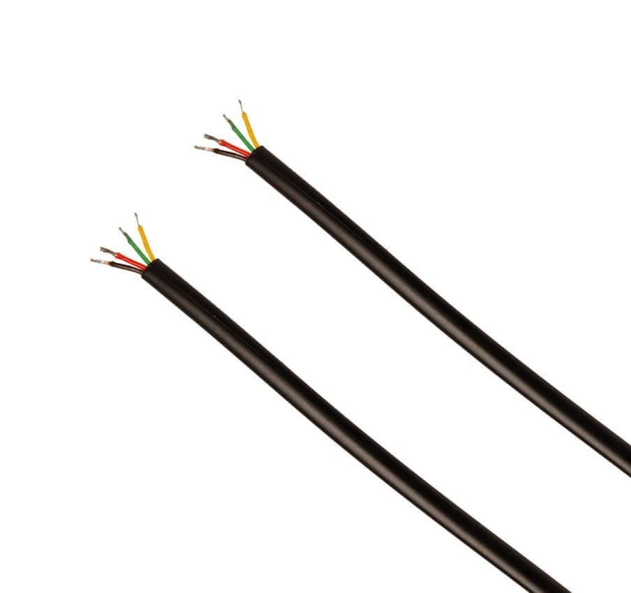 تصویر کابل تلفن ۲ زوج متری Rj11 cable
