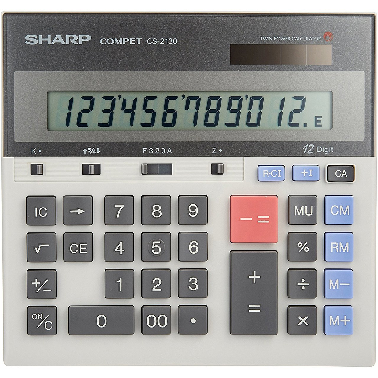 تصویر ماشین حساب شارپ مدل CS-2130|طوسی Sharp CS-2130 Calculator