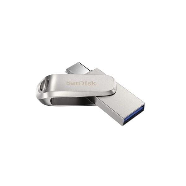 تصویر فلش مموری سن دیسک مدل Ultra Dual Drive Luxe USB Type-C ظرفیت 128 گیگابایت