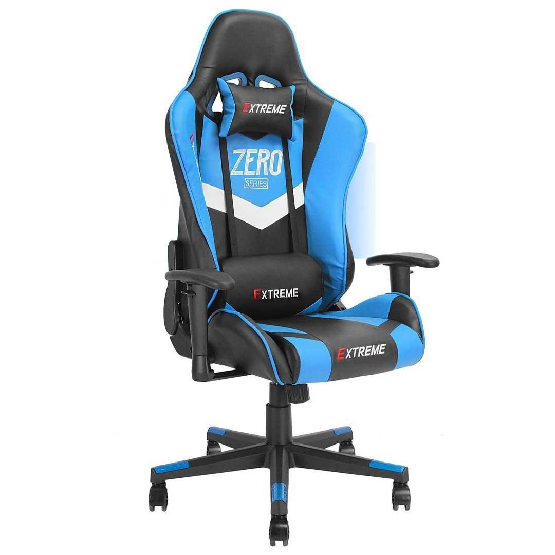 تصویر صندلی گیمینگ Extreme سری Zero رنگ آبی روشن