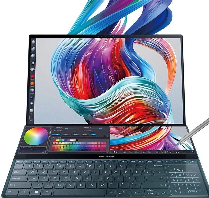 تصویر لپ تاپ 14 اینچی ایسوس مدل ZenBook Duo UX481FLC - AP
