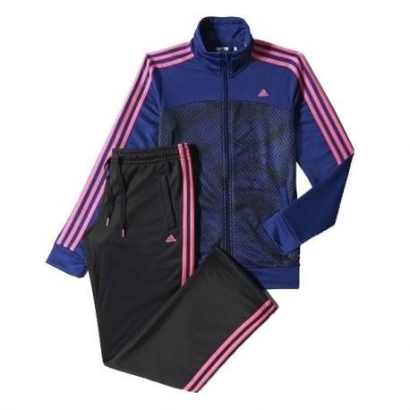 ست گرمکن و شلوار زنانه آدیداس اسنشالز 3 استرایپس نیت آل اور پرینت Adidas Essentials 3-Stripes Knit Allover Print M67619
