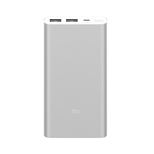 پاوربانک 10000 میلی آمپری با دو پورت USB | Xiaomi Power Bank 2 10000mAh Dual USB Ports - Black - Mi Hamrah