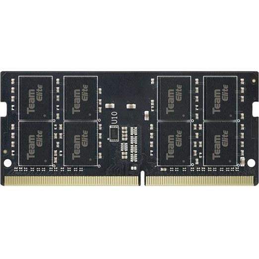 رم نوت بوک DDR4 تک کاناله 2400 مگاهرتز CL15 تیم گروپ مدل ELITE SO-DIMM ظرفیت 4 گیگابایت   RAM NOTEBOOK DDR4 Dual Channel 2400 MHz CL15 Team ELITE SO-DIMM Model 4GB Capacity
