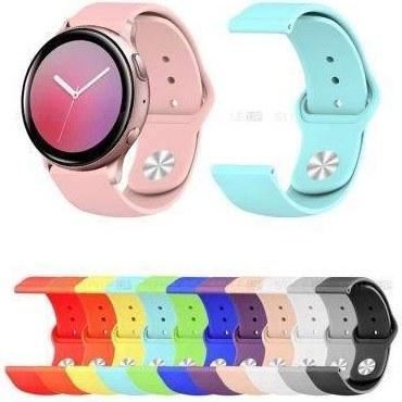 تصویر بند سیلیکونی ساعت سامسونگ Galaxy Watch Active 2 مدل دکمه ای Samsung Galaxy Watch Active 2 Silicone Sport Band