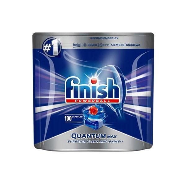 تصویر قرص ماشین ظرفشویی فینیش کوانتوم 100 عددی FINISH Finish Quantum Dishwasher Tablets Pack Of 100