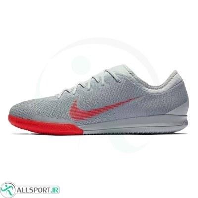 کفش فوتسال نایک مرکوریال طرح اصلی Nike Mercurial Vapor XII Pro IC Crimson Grey Silver