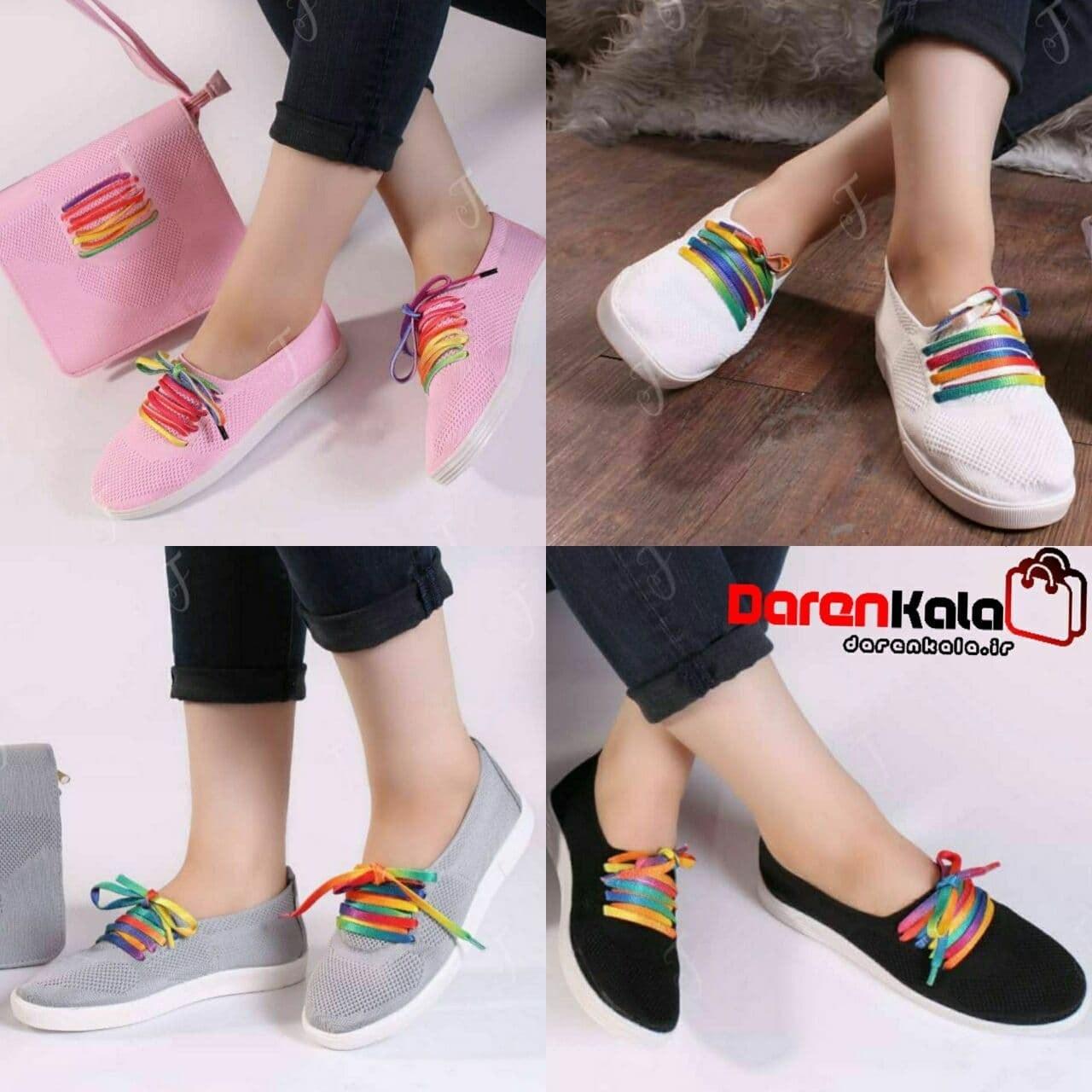 تصویر کفش کتانی بافتی زنانه دخترانهds00231