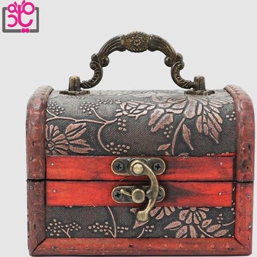 تصویر جعبه کادو چوبی طرح صندوقچه