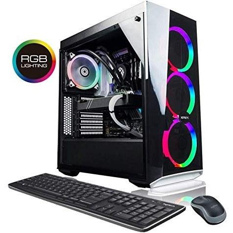 تصویر XOTIC [نسخه RTX 2070] Master Lite 5 RGB Gaming Desktop Computer PC ، AMD Ryzen 7 2700X 3.7 گیگاهرتز ، RTX 2070 8 GB ، مایع خنک ، 32 گیگابایت DDR4 ، 500 گیگابایت SSD 3TB HDD ، VR بهینه سازی ، WiFi ، ویندوز 10 صفحه اصلی
