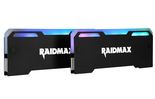 تصویر خنک کننده رم ریدمکس مدل MX-۹۰۲F Raidmax MX-902F Addressable RGB Memory RAM Cooler Heatsink
