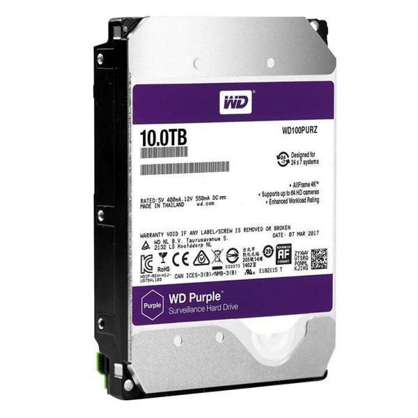 تصویر هارددیسک اینترنال وسترن دیجیتال مدل Purple ظرفیت ۱۰ ترابایت Western Digital Purple Internal Hard Drive 10TB