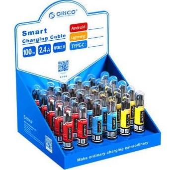 کابل تبدیل USB به microUSB  و USB-C و لایتنینگ اوریکو مدل SGX-NL-30 بسته 30 عددی |