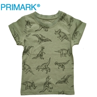 تصویر تیشرت پسرانه سبز طرح دایناسور