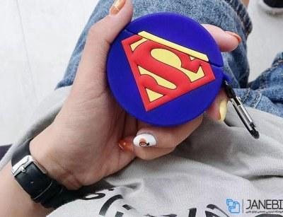 کاور محافظ سیلیکونی ایرپاد طرح سوپرمن SuperMan Silicone Case Apple Airpods |
