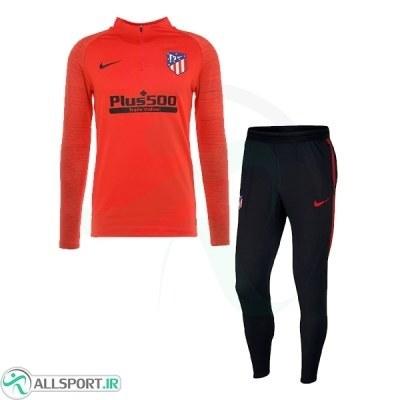 سوئیشرت پسرانه اتلتیکومادرید قرمز مشکی Atletico Madrid Training Tracksuit 2020
