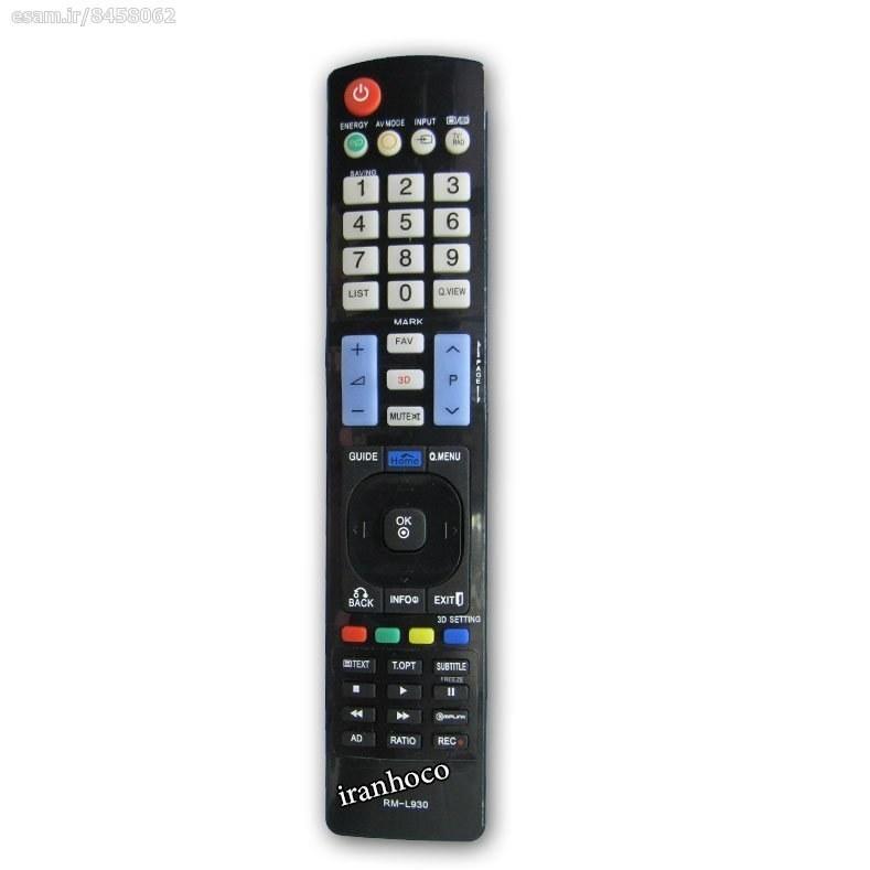 عکس کنترل تلویزیون ال ای دی LED ال جی مدل RM-L930  کنترل-تلویزیون-ال-ای-دی-led-ال-جی-مدل-rm-l930