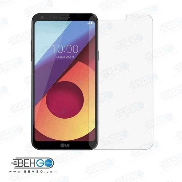 تصویر گلس LG Q6 بی رنگ و شفاف الجی کیو 6 یا ,کیو شش ال جی محافظ صفحه نمایش شیشه ای Glass Screen Protector LG Q6