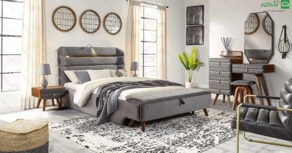 تصویر تخت خواب دو نفره هومان