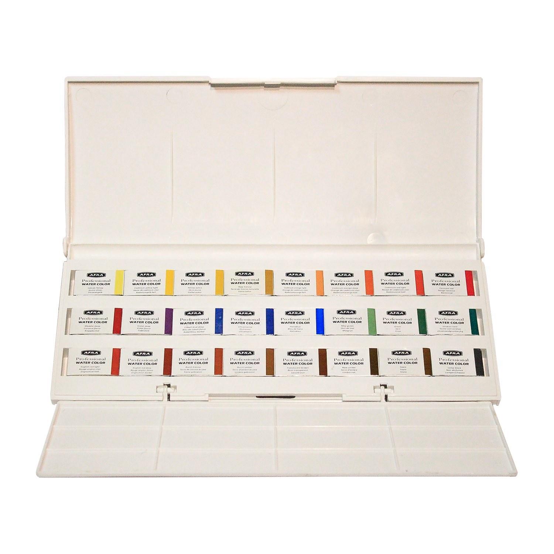 آبرنگ افرا حرفه ای12 و 18 و ۲۴ و ۳۶ و ۴۸ رنگ