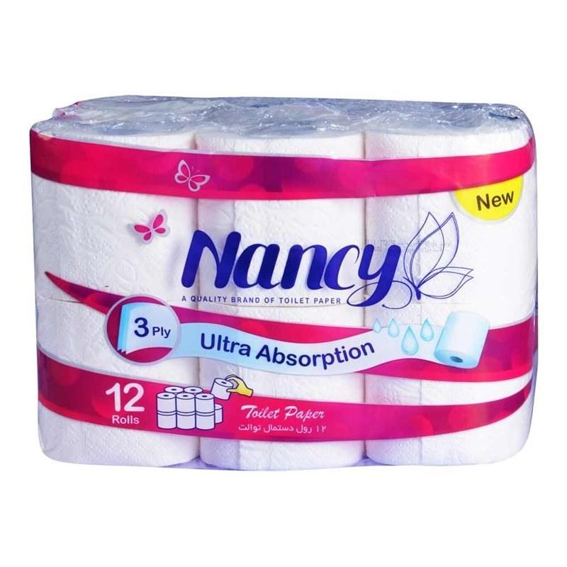 تصویر دستمال توالت نانسی بسته 12 عددی