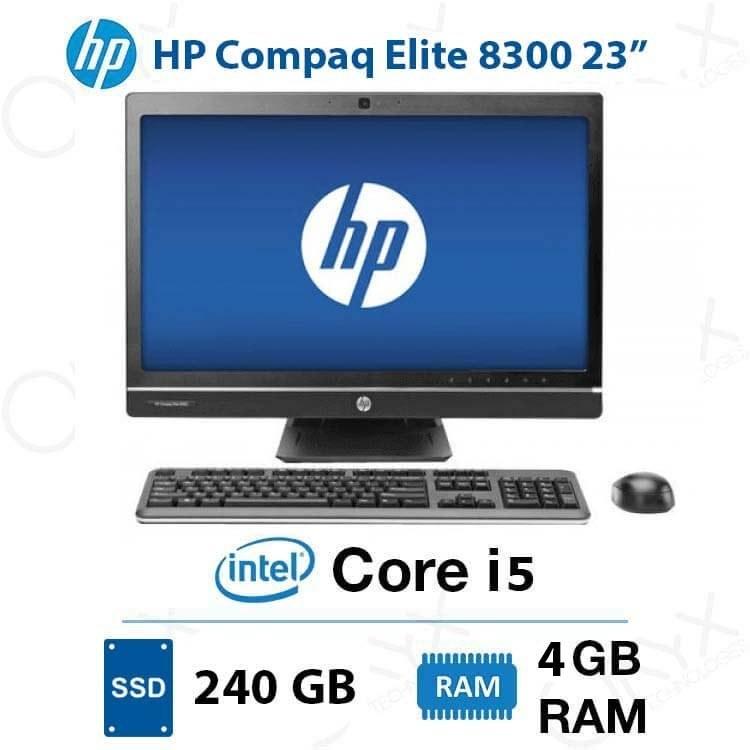 تصویر ال این وان HP Compaq Elite 8300 Core i5 4GB 240GB Intel All-in-One PC