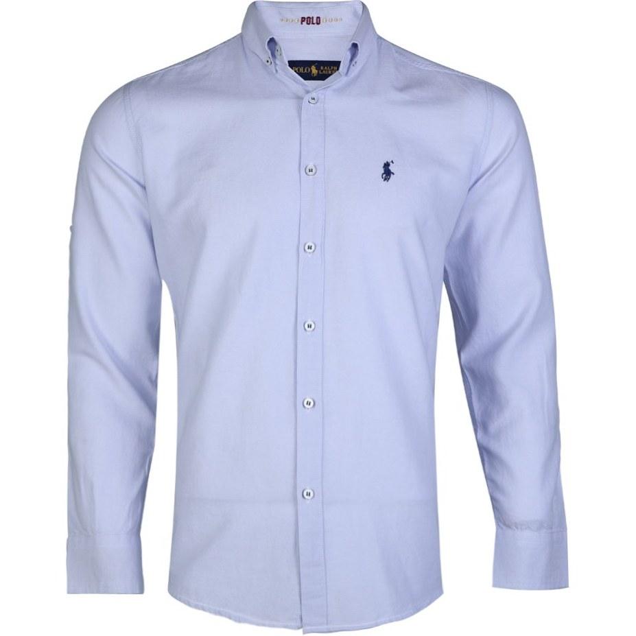 تصویر پیراهن مردانه جودون آستین بلند طوسی روشن