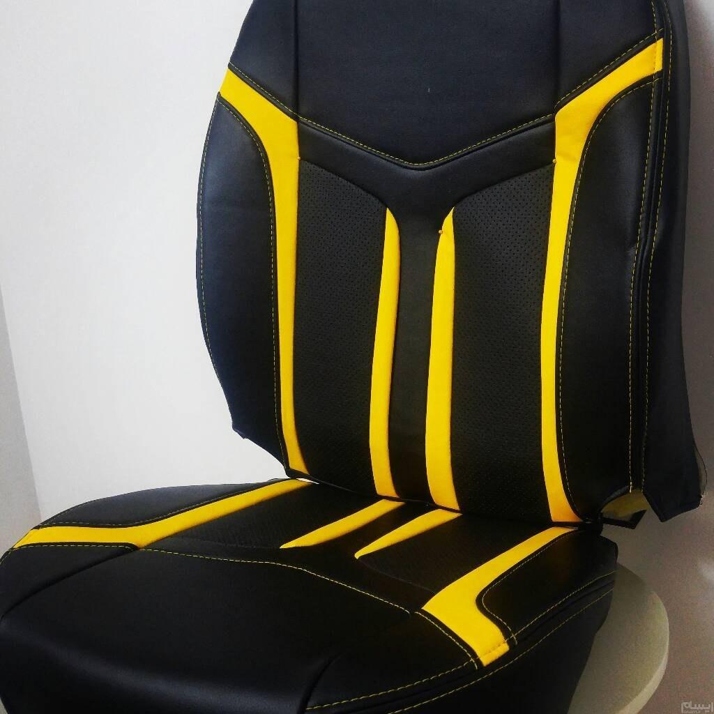 روکش صندلی چرم اسپرت طرح خاص و جدید   تمام چرم اسپرت مدل رویز رویز