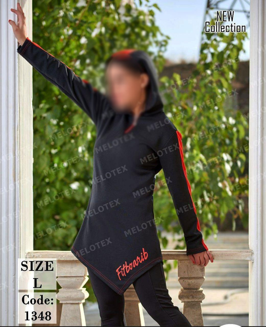 تصویر مانتو تکی ورزشی زنانه کد 1348