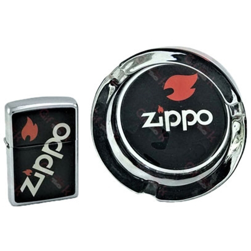 تصویر فندک و زیرسیگاری Zippo