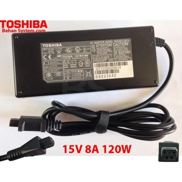 main images شارژر لپ تاپ 15 ولت 8 آمپر توشیبا Toshiba 15V 8A Laptop Adaptor