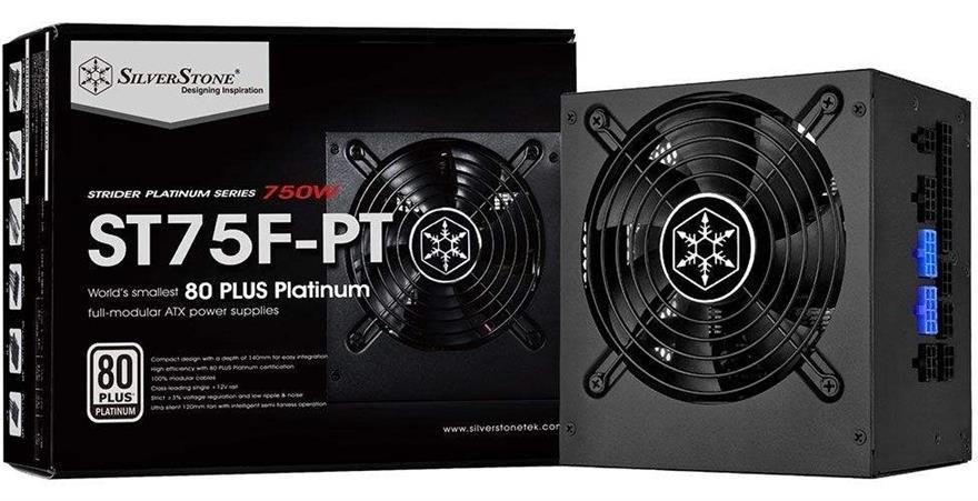 تصویر SilverStone Strider Platinum SST-ST75F-PT 750W Power Supply منبع تغذیه کامپیوتر سیلوراستون مدل Strider Platinum SST-ST۷۵F-PT