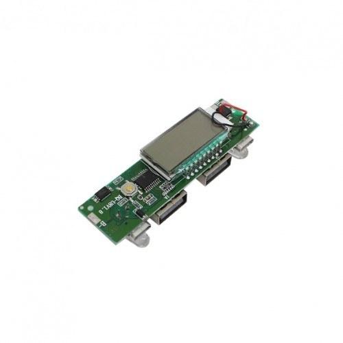 ماژول شارژر / دشارژر باتری لیتیومی دارای نمایشگر و دو ورودی / خروجی USB مناسب برای ساخت پاور بانک