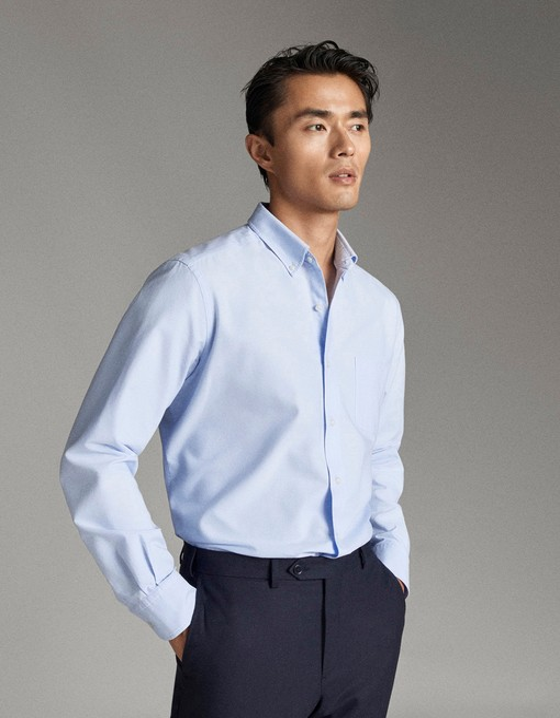 پیراهن آستین بلند ماسیمو دوتی با کد 0138/102/403 ( REGULAR FIT COTTON OXFORD SHIRT ) | پیراهن آستین بلند مردانه ماسیمو دوتی
