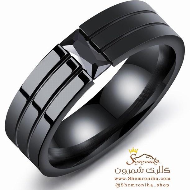 انگشتر حلقه مردانه مشکی RNG335B0