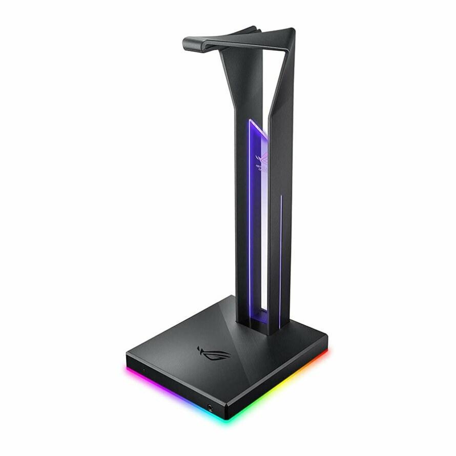 تصویر پایه نگهدارنده هدست ایسوس ROG Throne Qi ا ASUS ROG Throne Qi Gaming Headset Stand ASUS ROG Throne Qi Gaming Headset Stand