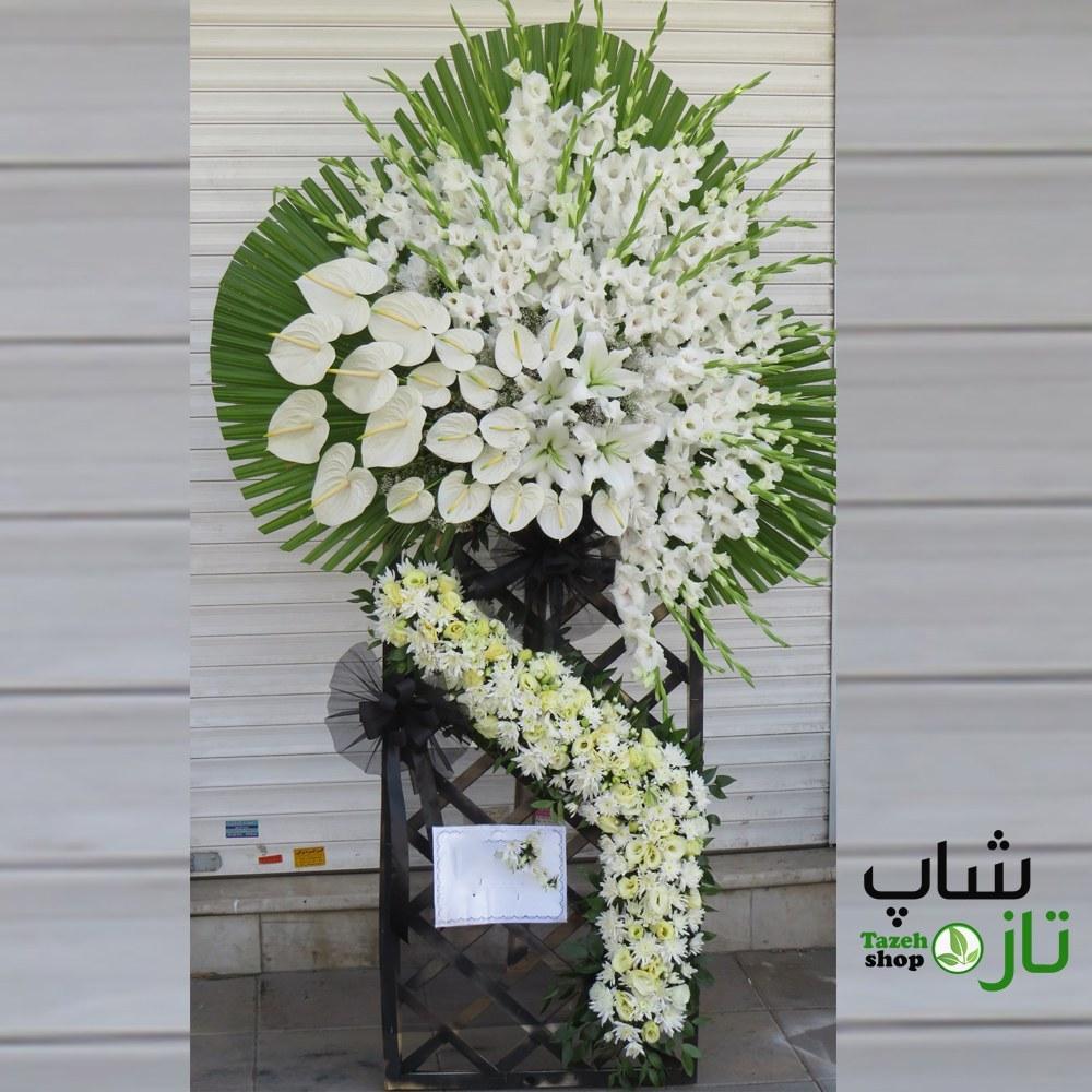 تصویر تاج گل ترحیم طرح خاص