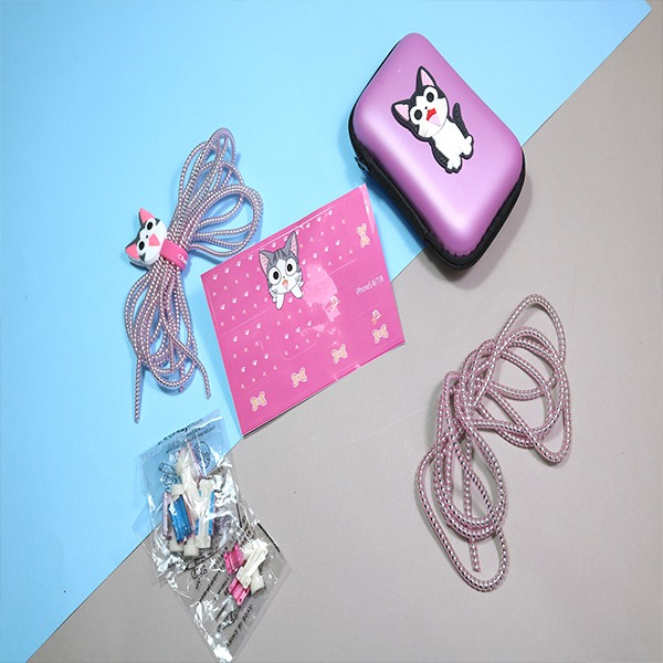 تصویر پک محافظ کابل شارژ و هندزفری گربه چی صورتی پک محافظ کابل شارژ و هندزفری گربه چی صورتی - فروشگاه اینترنتی ساقی