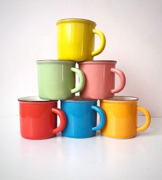 تصویر فنجان رنگی قهوه ۶ عددی