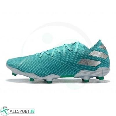 کفش فوتبال آدیداس نمزیز طرح اصلی سبز Adidas Nemeziz 19.1 FG Green Silver