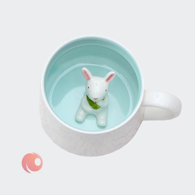 تصویر ماگ سرامیکی GUSHA طرح خرگوش