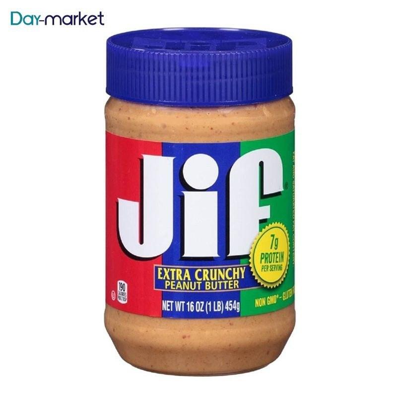 تصویر کره بادام زمینی کرانچی جیف Jif Extra Crunchy Peanut Butter 454gr