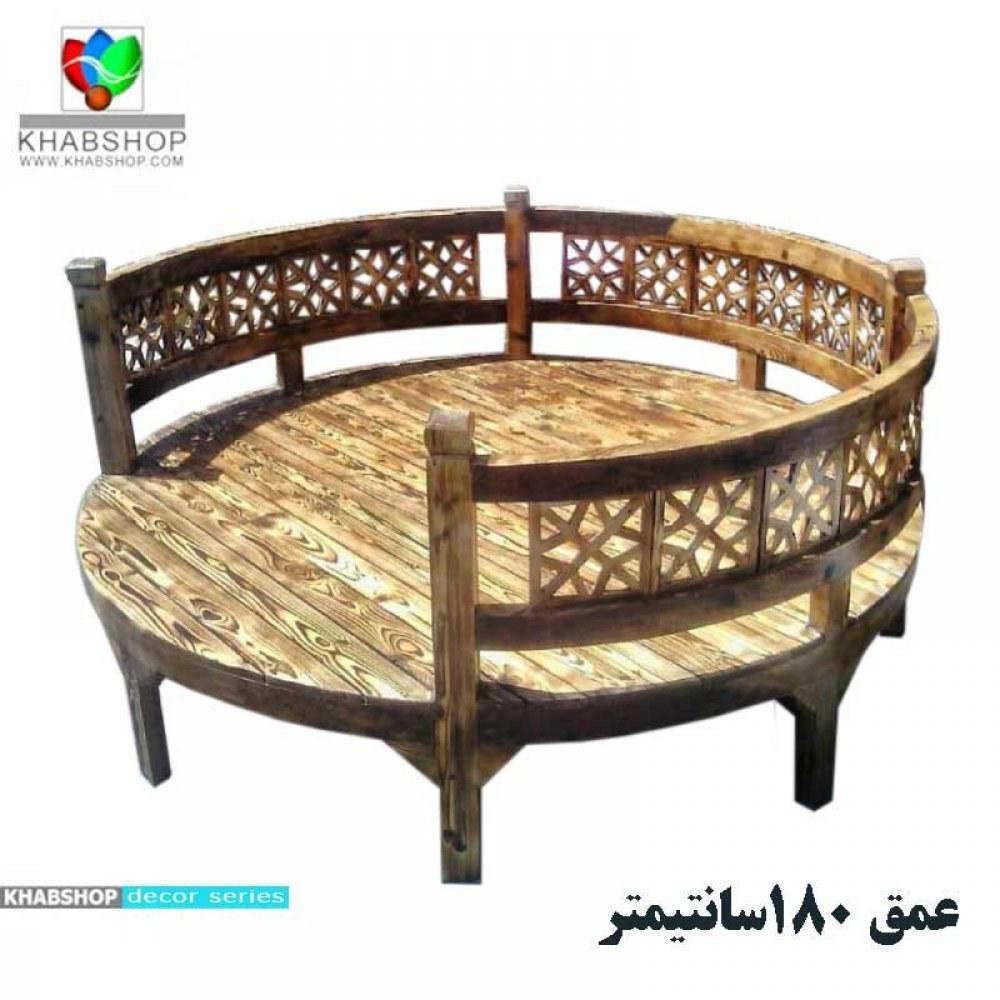تخت چوبی سنتی گوشه ای کد CH12