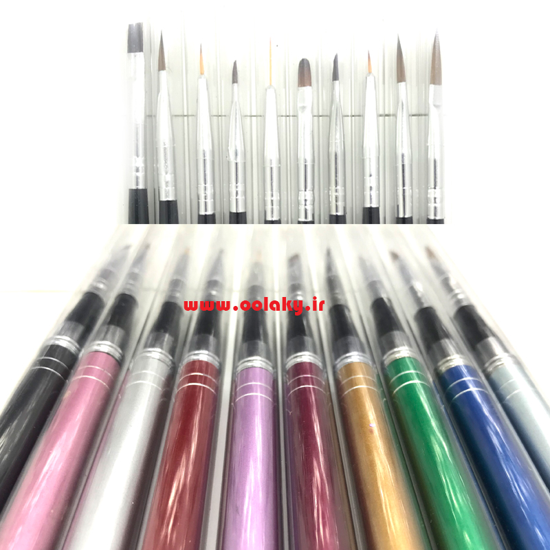 ست کامل قلم کاشت ناخن