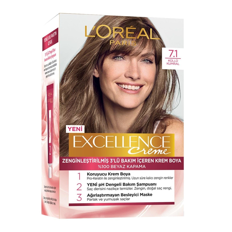 تصویر کیت رنگ مو لورآل سری Excellence شماره 7.1